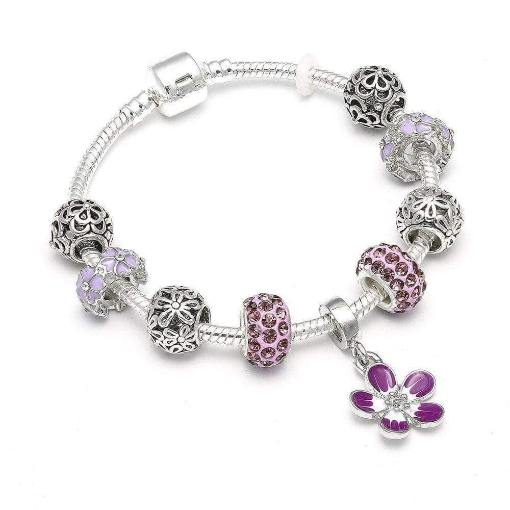 Spring/Summer Flower Charm Bracelet - Unique women Jewelry! Rings, bracelets, watches & more..