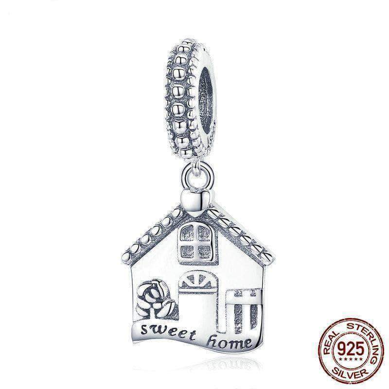 Sweet Home Family Dangle Silver Charms - Unique women Jewelry! Rings, bracelets, watches & more..