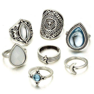 The Big Vintage Stardust Ringset - Unique women Jewelry! Rings, bracelets, watches & more..