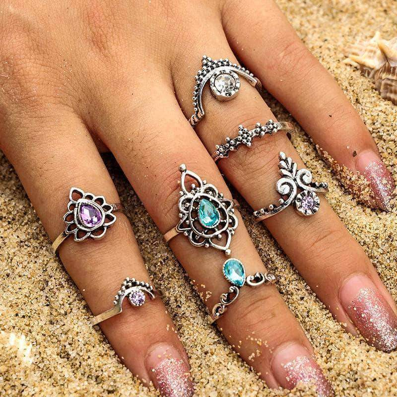 The Mermaid Crown Ringset - Unique women Jewelry! Rings, bracelets, watches & more..