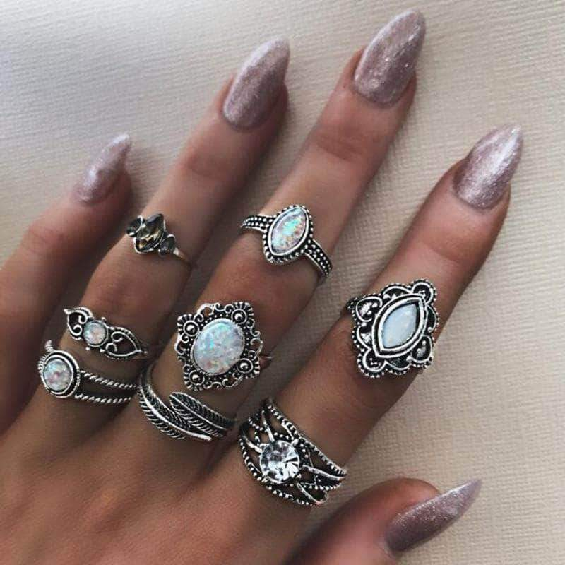 The Water Drop Stone Ringset - Unique women Jewelry! Rings, bracelets, watches & more..