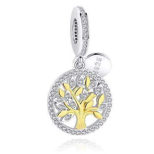 Tree of Life Dangle Charm 14k Gold Plated Silver - Unique women Jewelry! Rings, bracelets, watches & more..