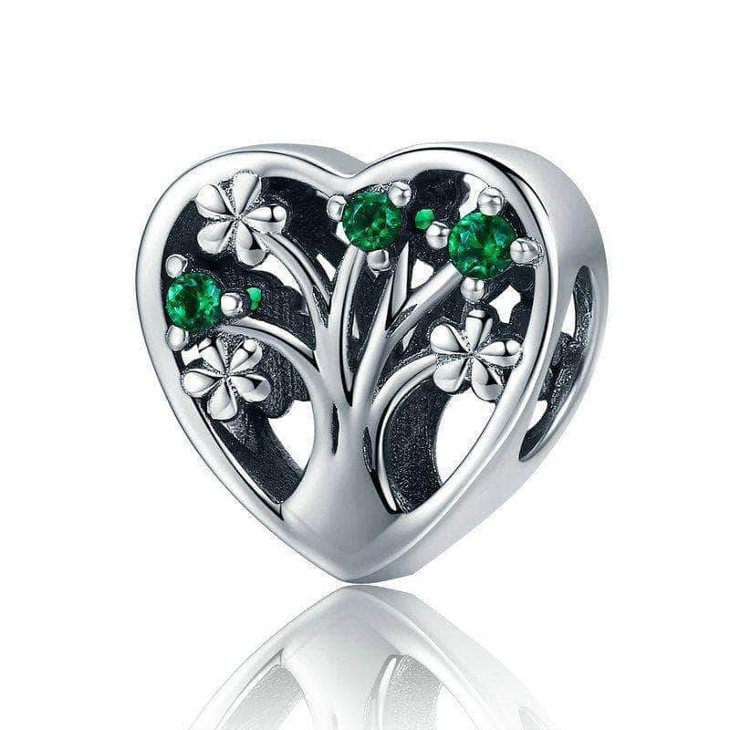 Tree of Life Heart Charm Silver - Unique women Jewelry! Rings, bracelets, watches & more..