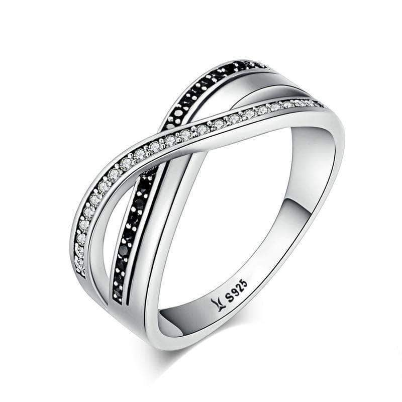 Twisting Wave Eternity CZ Ring Silver - Unique women Jewelry! Rings, bracelets, watches & more..