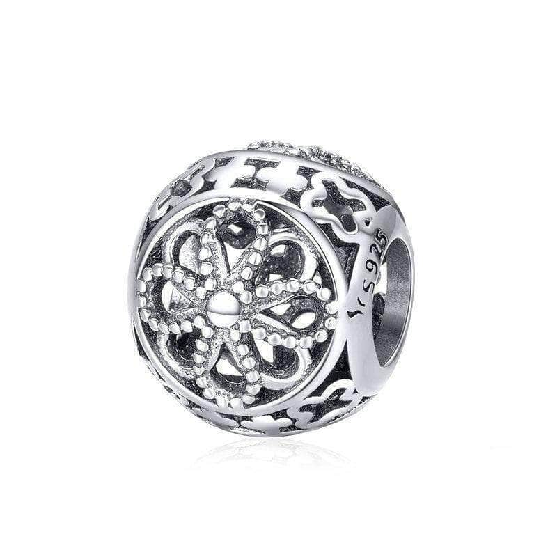 Vintage Flower Charm Bead Silver - Unique women Jewelry! Rings, bracelets, watches & more..