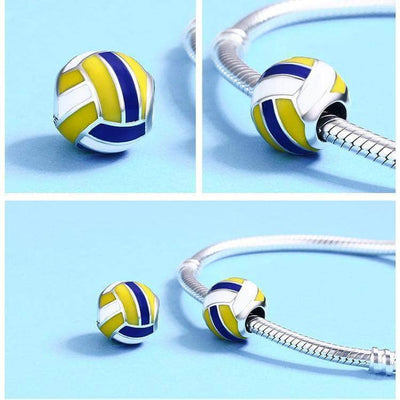 Volleyball Love Charm Bead Silver - Unique women Jewelry! Rings, bracelets, watches & more..
