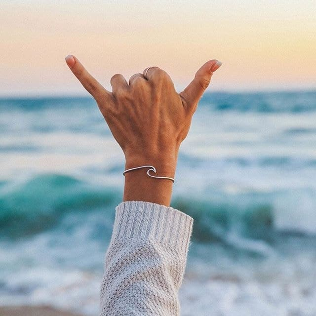 Wave Open Cuff Bangle - Unique women Jewelry! Rings, bracelets, watches & more..