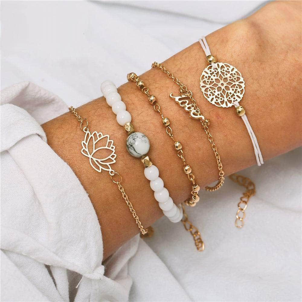 White Vintage Spring/Summer Bracelets - Unique women Jewelry! Rings, bracelets, watches & more..