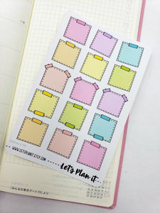 post-it note style boxes - Hobonichi weeks Functional Basics | Planner stickers