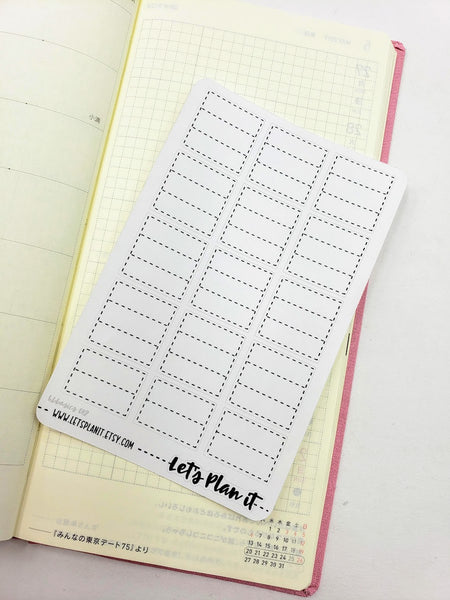 Tracker dotted boxes - Hobonichi weeks Functional Basics | Planner stickers