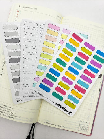 Dotted small labels - Hobonichi weeks Functional Basics | Planner stickers