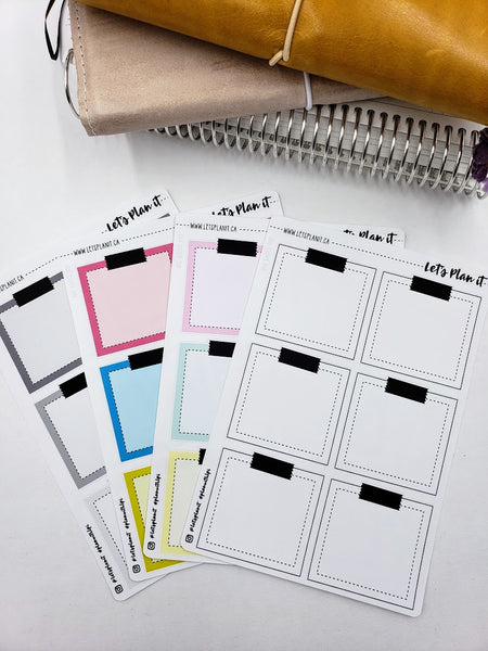Large post-it note style boxes - Hobonichi weeks Functional Basics | Planner stickers