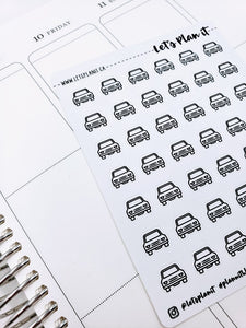 Car/ vehicle | monochrome icon | Planner stickers