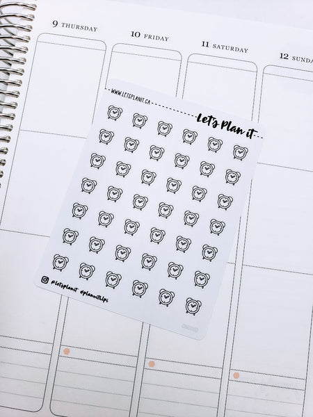 Alarm Clock | monochrome icon | Planner stickers