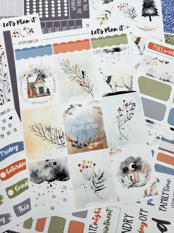 Jane - weekly kit for vertical layout | planner stickers