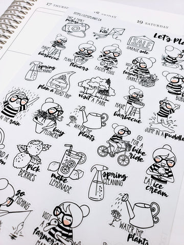CORA SPRING Bucket List | character stickers