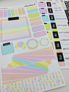 Rainbow | Weekly kit for the Hobonichi Weeks Planner