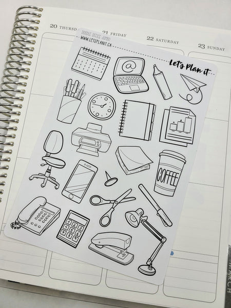 Work Doodles | pick your size doodle stickers