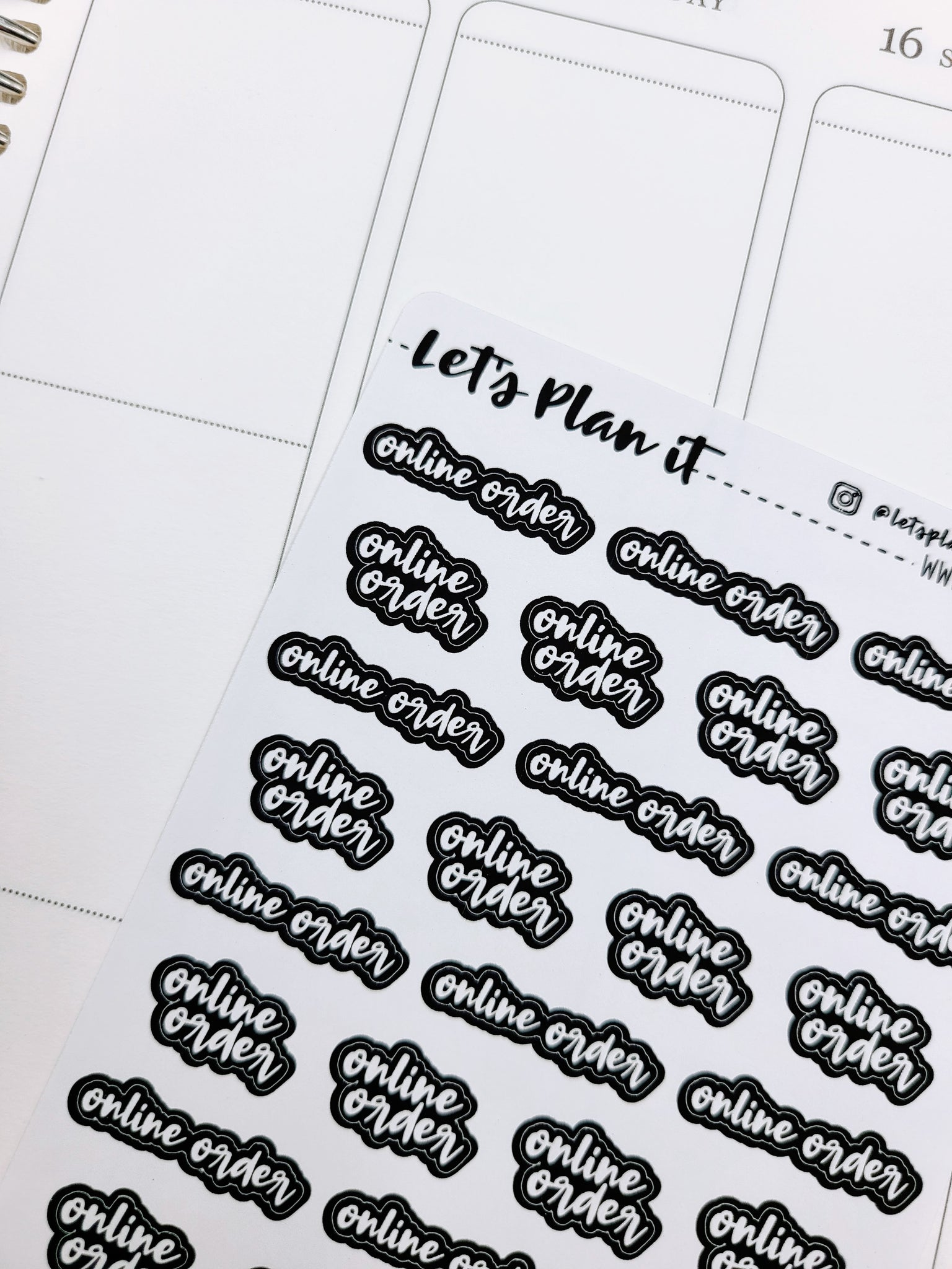 Online order | Monochrome blackout stickers