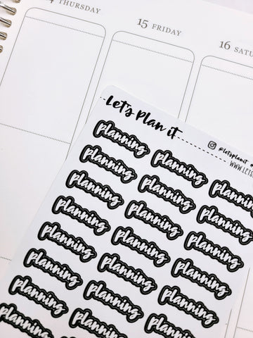 Planning | Monochrome blackout stickers