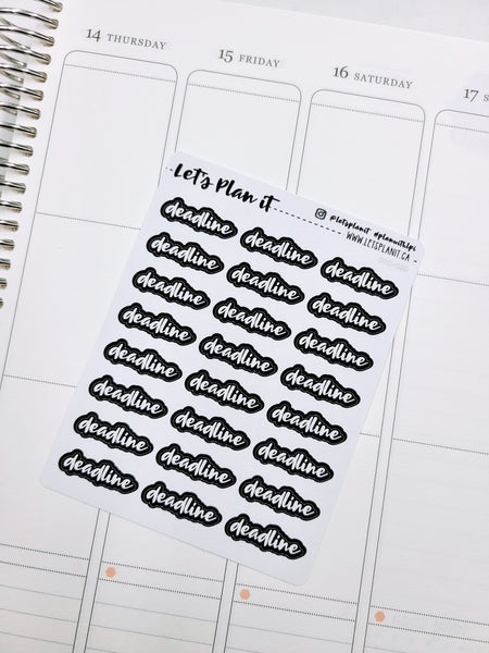 Deadline | Monochrome blackout stickers