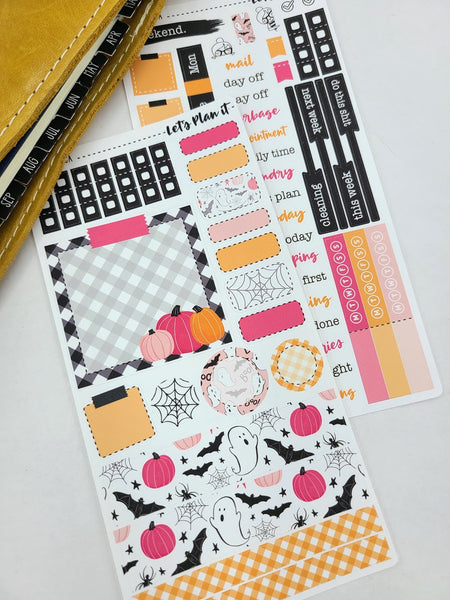 Kelly (halloween) | Weekly kit for the Hobonichi Weeks Planner