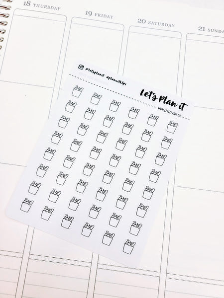 Grocery bag | monochrome mini icon | Planner stickers