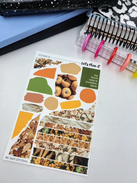 Ginger | Weekly kit for the Hobonichi Weeks Planner