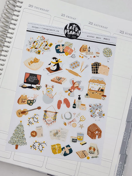 Winter/ Christmas  DECO | planner stickers