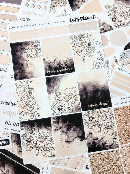 Cassidy | weekly sticker kit for vertical planner layout