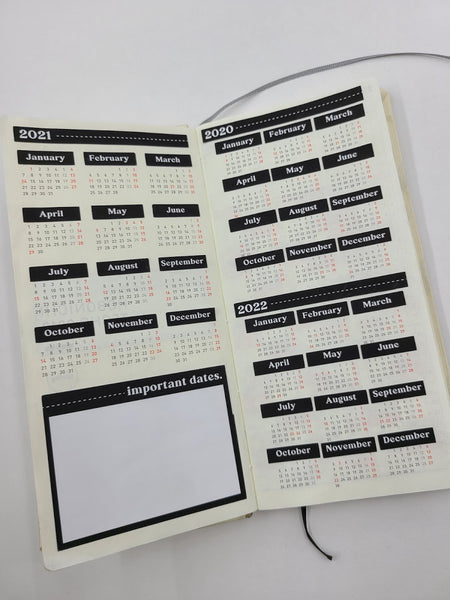 Yearly Calendar at a glance for Hobonichi weeks planner | Planner sticker