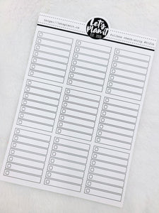Check strip fullbox checklists | 3 varieties | Planner Stickers
