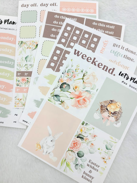 Bunny (Easter) | PP Weeks/TN mini weekly sticker kit