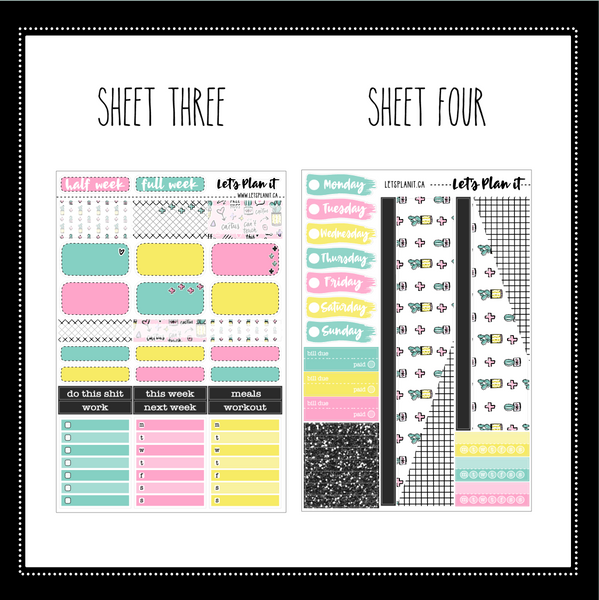 Gina - weekly kit for vertical layout