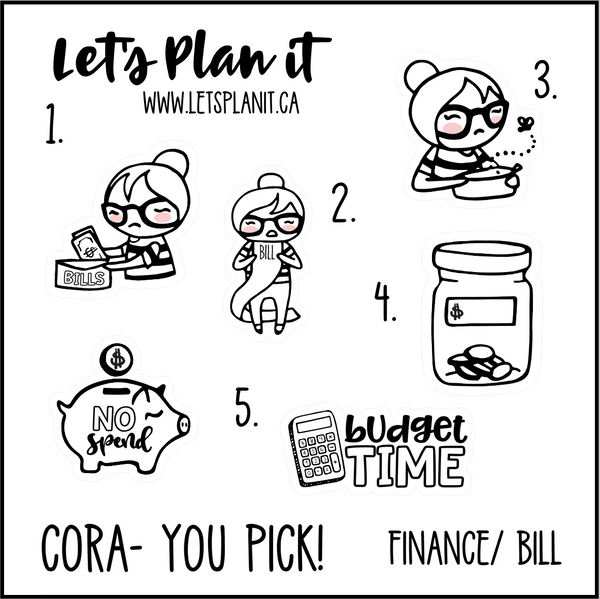 Cora-u-pick- Finances/ Bills