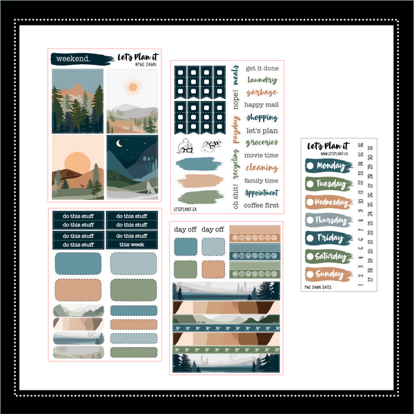 Dawn | PP Weeks/ TN/ mini weekly Planner kit