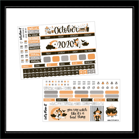 October A5 monthly view kit | LPA 'the britne' | Planner Stickers