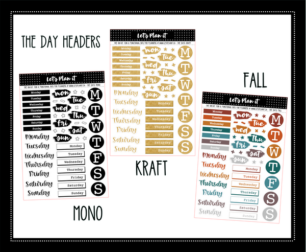 Minimal un-kit collection | bujo style | FALL COLOR PALETTE | 6 variations | Planner Stickers