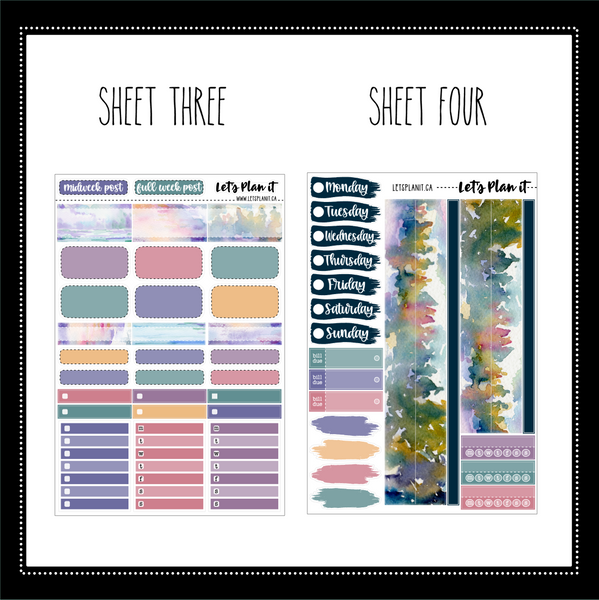 Erin (mountain)-  weekly kit for vertical layout | planner stickers