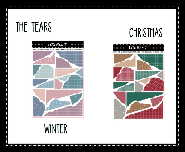 Minimal un-kit collection | bujo style | CHRISTMAS COLOR PALETTE | 6 variations | Planner Stickers