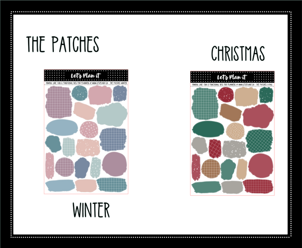 Minimal un-kit collection | bujo style | WINTER COLOR PALETTE | 6 variations | Planner Stickers