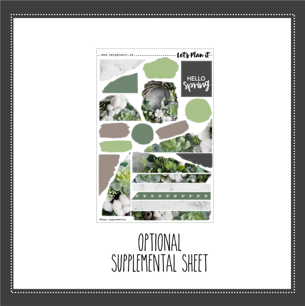 Sage | weekly sticker kit for vertical planner layout