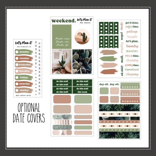 Sedona | PP Weeks/ TN/ mini weekly Planner kit