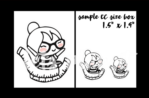 Cora - Diet/ weight loss | pick your size monochrome character