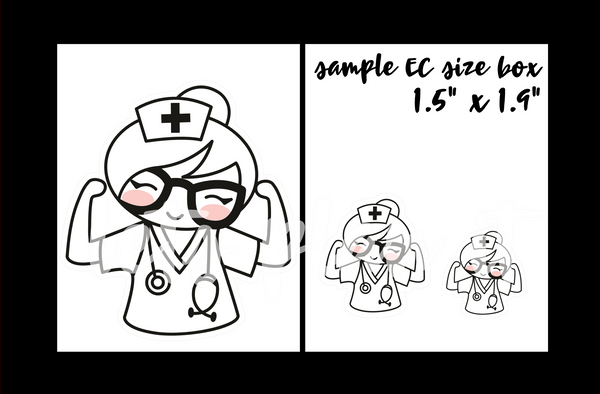 Cora- Nurse | pick your size monochrome character