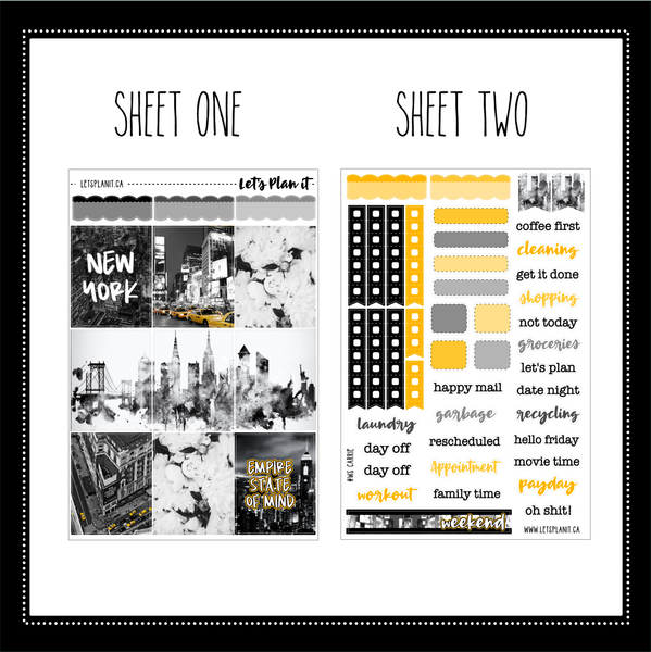 Carrie - weekly kit for vertical layout