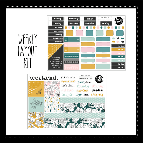 Courtney | Hobonichi Cousin A5 weekly/ daily sticker kit