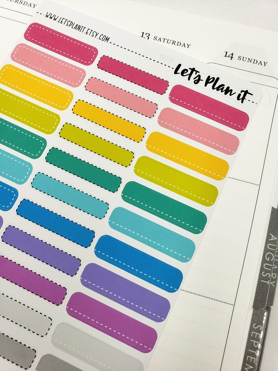 Colourful quarter Box/ skinny label | rainbow variety | Stickers for Planners