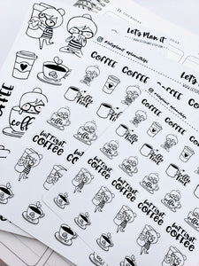 Cora -coffee | pick your size monochrome character