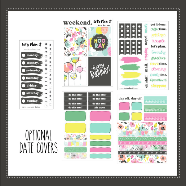 Parker (birthday) | PP Weeks/TN mini weekly sticker kit